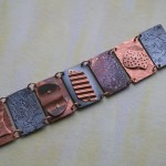 Recycled copper sectional bracelet